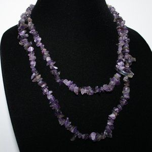 Beautiful Amethyst necklace 24""